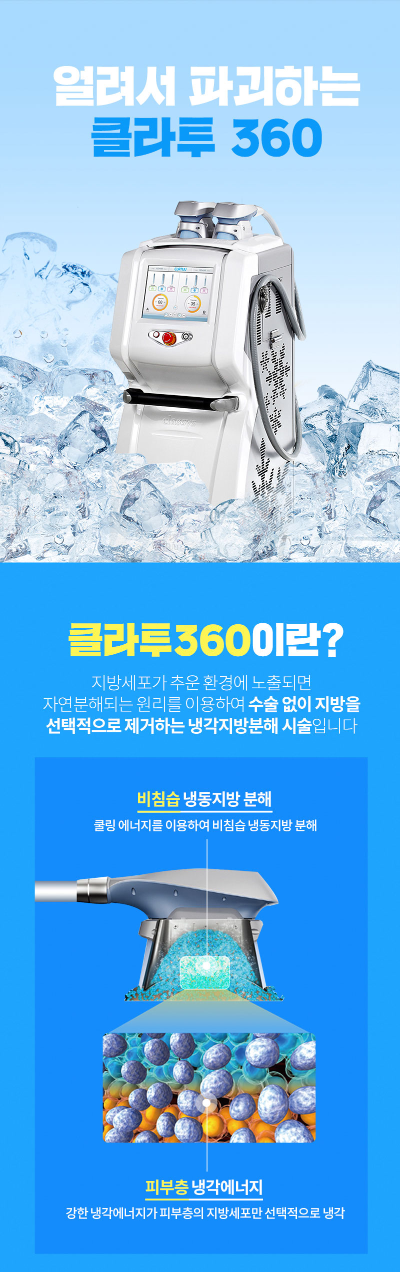 [명동]얼려서 지방파괴, 클라투360
