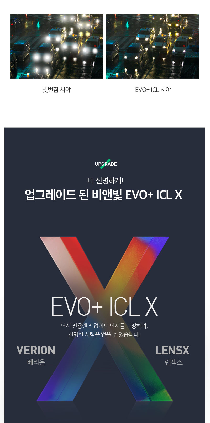 각막 손상없는 시력교정! EVO+ICL 렌즈삽입술